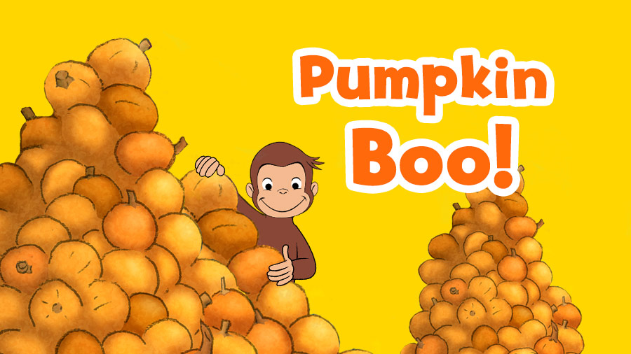 Image result for curious george pumpkin boo