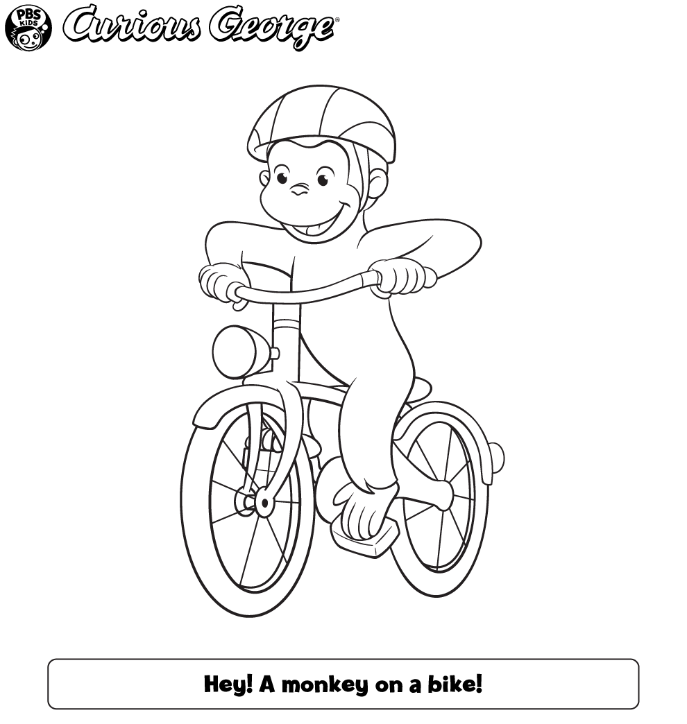 It's just a photo of Resource Curious George Printable