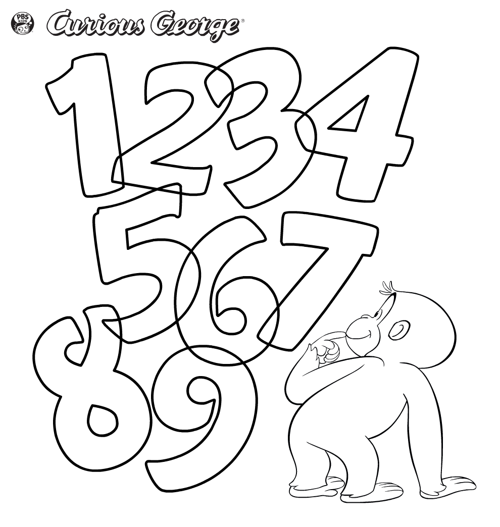 curious george coloring pages games - photo#10