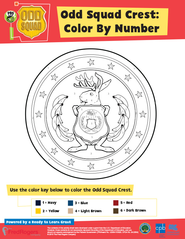 photo regarding Odd Squad Badge Printable called Bizarre Squad Discovering Elements PBS Children