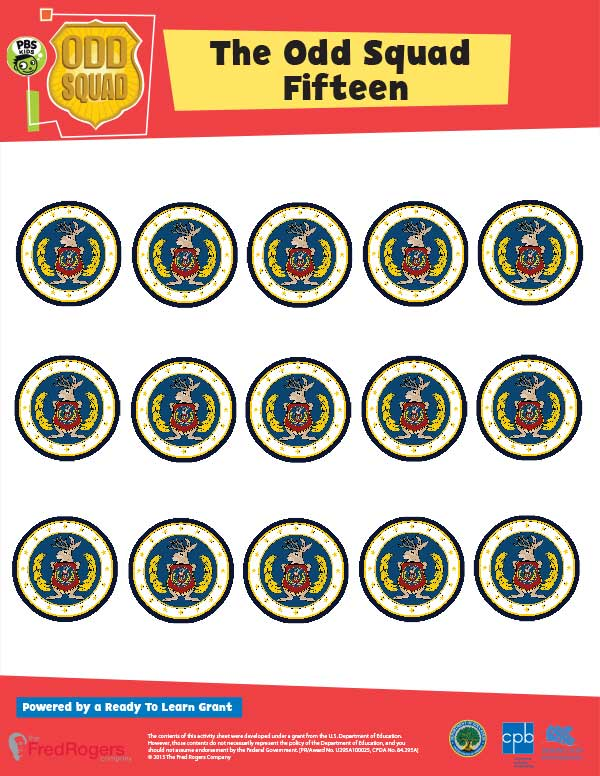 graphic relating to Odd Squad Badge Printable referred to as Weird Squad Finding out Components PBS Little ones