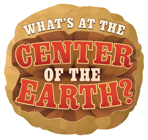 A large boulder with the movie title. Whats at the center of the earth?