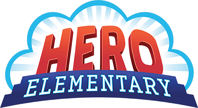 The hero elementary logo floats in the middle of the screen.