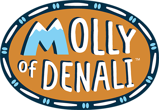 The Mollly of Denali logo made of stretched leather.