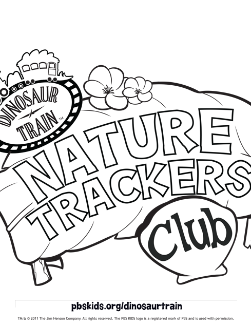 dinosaur train nature trackers club - Pbs Kids Coloring
