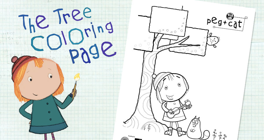 The Tree Coloring Page . Activities . peg + cat | PBS KIDS