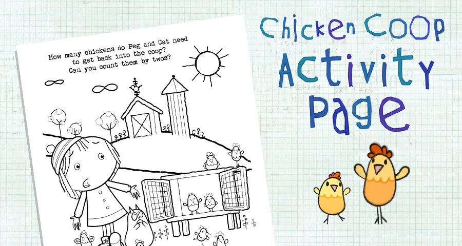 Chicken Coop Coloring Page . Activities . peg + cat | PBS KIDS