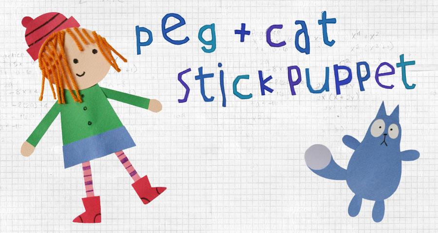 Peg + Cat Stick Puppets