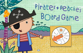 Pirates + Peaches Board Game