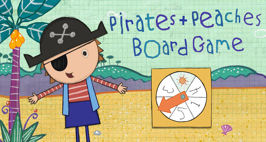 Pirates Peaches Board Game Activities Peg Cat Pbs Kids
