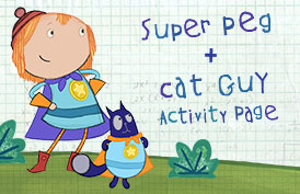 Super Peg + Cat Guy Activity