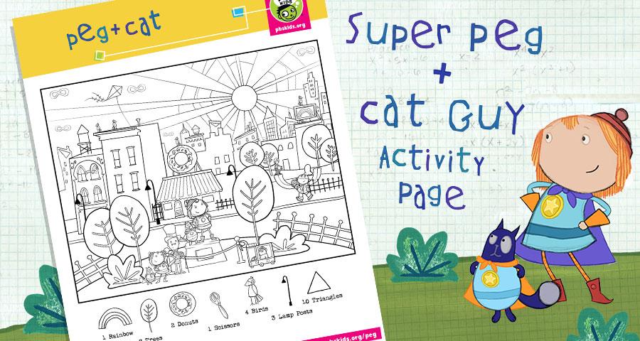 Super Peg + Cat Guy Activity